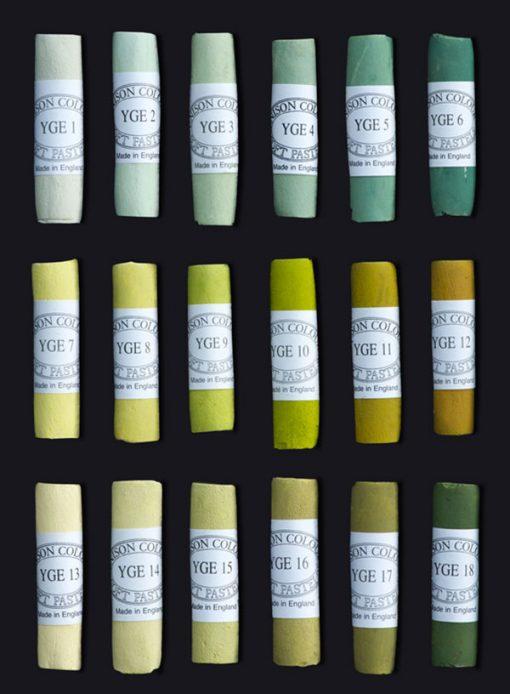 Unison Colour Soft Pastels - Yellow Green Earth Colours