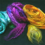 Silk Fibres, hand-dyed