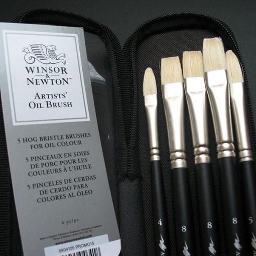 Artists Hog Brush Set 5 brushes