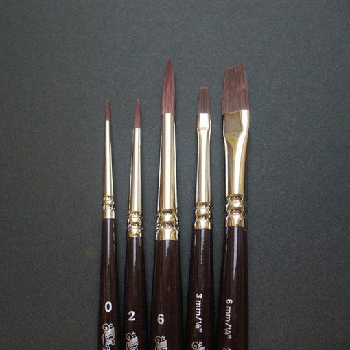 Galeria Short Handle Brush Set 5 brushes