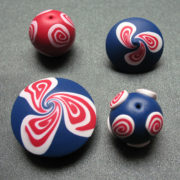 Spiral Polymer Clay Beads