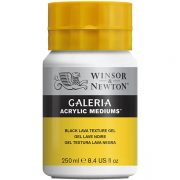 Galeria Acrylic Medium - Black Lava Texture Gel - 250ml