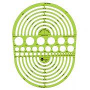 Circle Radius Master Template 189 x 251mm