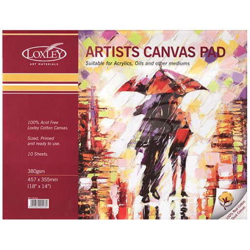 Loxley Artists Canvas Pad - 18x14in