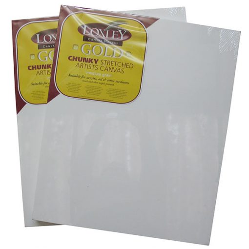 Loxley Gold Chunky Stretched Artists Canvas 24In X 20In