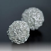 Filigree Balls made with Silver syringe
