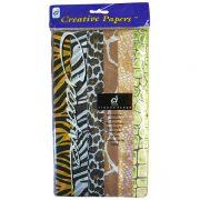 24 Sheet Tissue Paper Assortment Safari