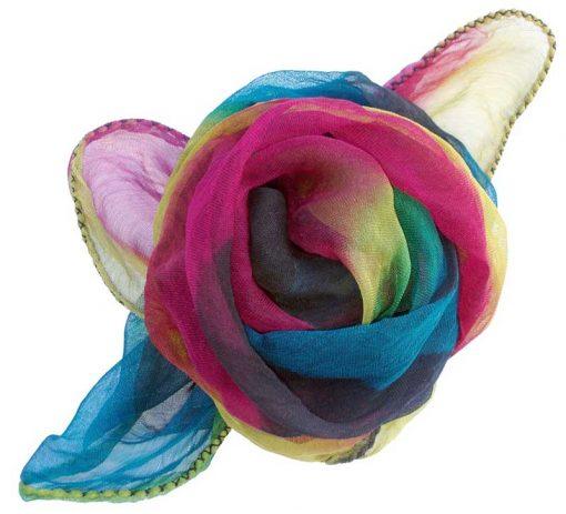 Dyed chiffon scarf