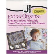 ExtravOrganza Ink Jet Printable Organza Silk Sheets