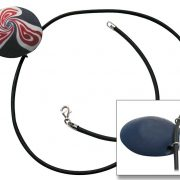 Rubber Thong Necklet with Polymer Clay Bead