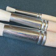 Hog hair brush for stencils
