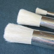 1/2 inch hog hair bristle brush for stencilling
