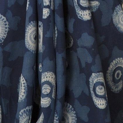 Batik with Indigo dye
