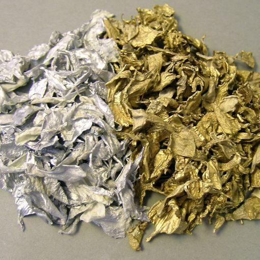 Dried Flower Petals, Metallic