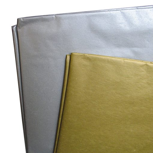 Gold and silver tissue papers