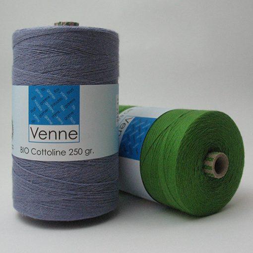 Venne Organic Cotton/Linen Yarn Nm 37/2, 1600m, 250g Spools