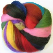 Rainbow Bag Dyed Wool Tops, 100g