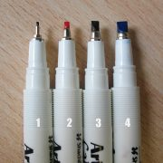 Artline Calligraphy Pens - nib sizes
