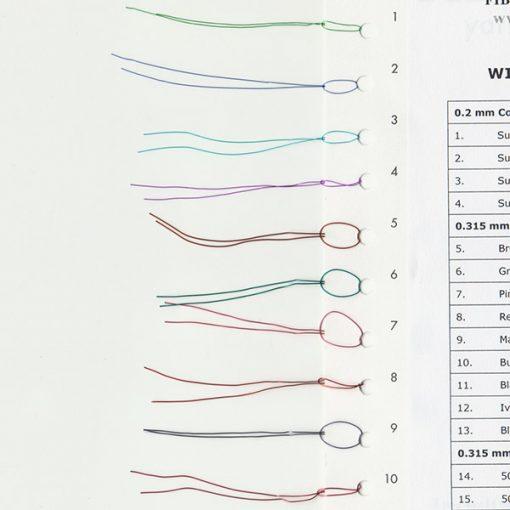 Wire Yarn Sample Card