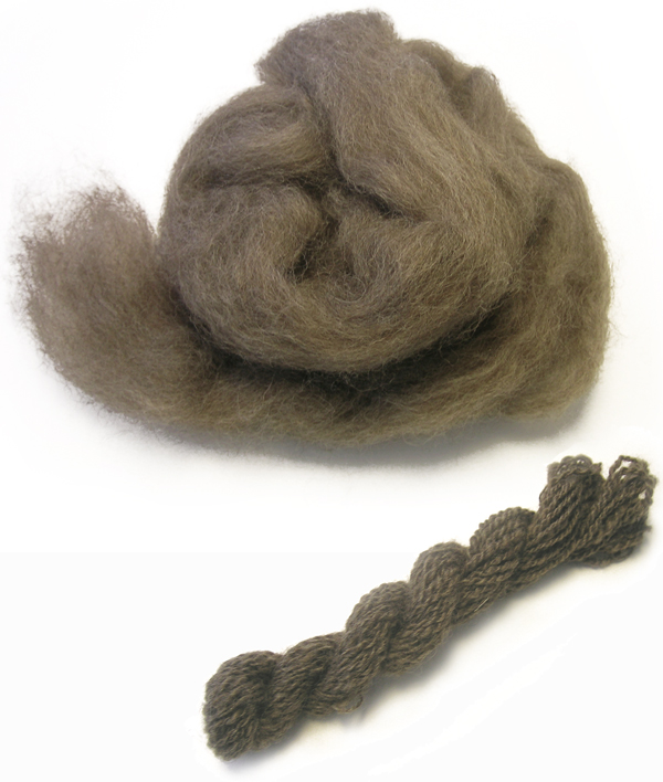 Spun Bluefaced Leicester wool tops