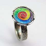 Art Clay Silver Ring Joy Funnell