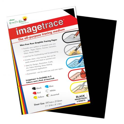 Imagetrace Pure Graphite Tracing Paper Black A4