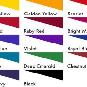 Fibrecrafts Discharge Acid Dyes colour chart