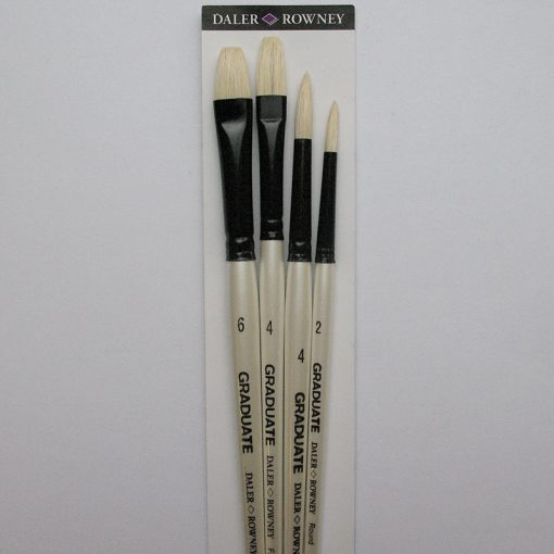 Set of 4 brushes for oil painting