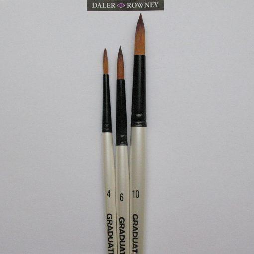 Set 3 Artist Round Brushes