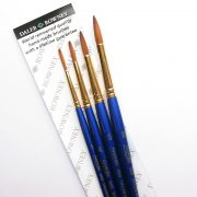 Sapphire Fine Detail Set of 4 Watercolour Brushes