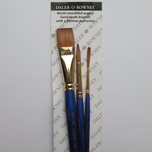 Brush set for painting in watercolours