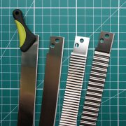 Tissue blades for cutting clay