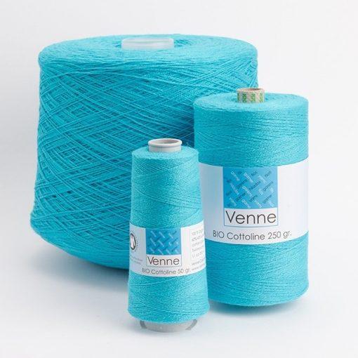 Venne Cotton/Linen Yarn Nm 37/2, 6400m, 1kg Cones