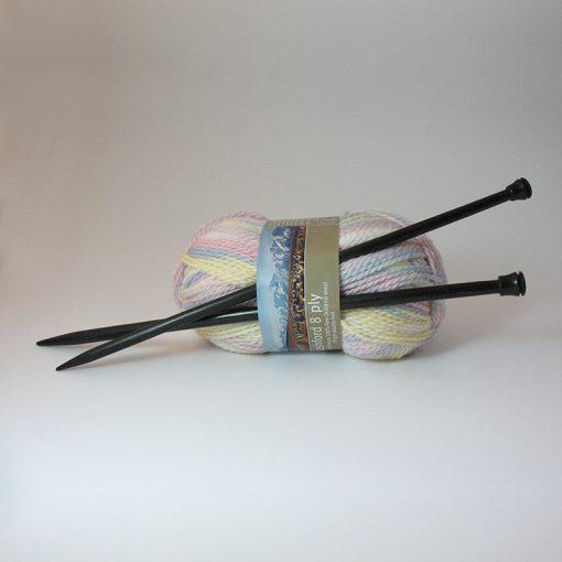 Ebony Knitting Needles Pair - 8mm / UK 0