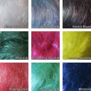 Heat-Bondable Angelina Fibres colour chart