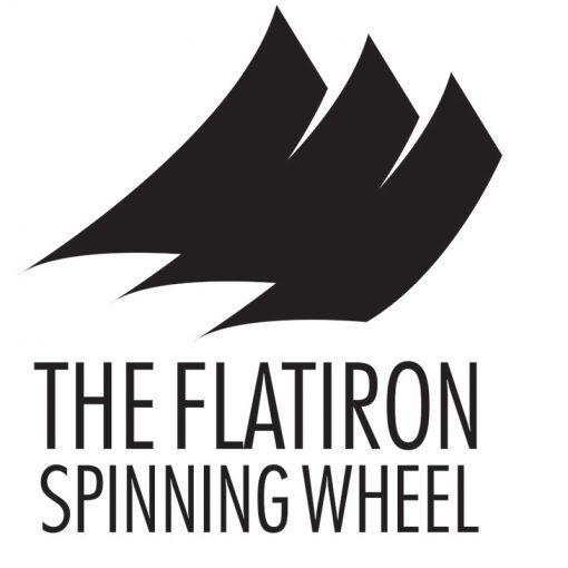 The FlatIron Spinning wheel logo