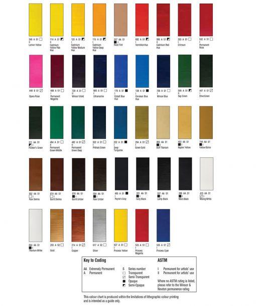 Galeria Acrylic Colour Chart