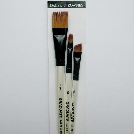 Graduate Synthetic Comb 3 Brush set