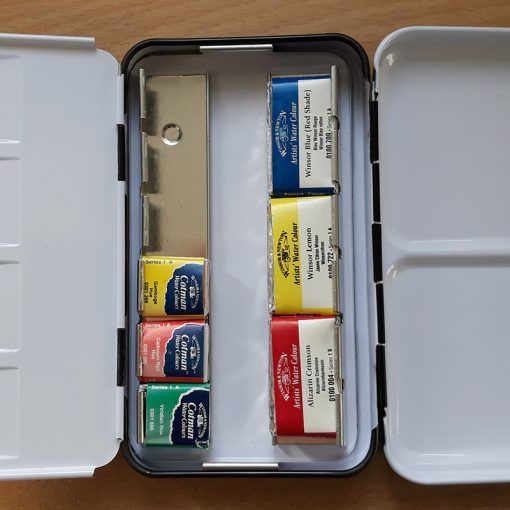 Paint box for watercolours