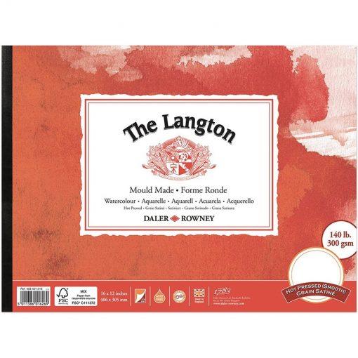 Langton Watercolour Pads Hot Pressed Surface