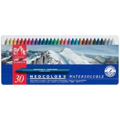 Caran d'Ache Neocolor II Wax Pastels Tin 30