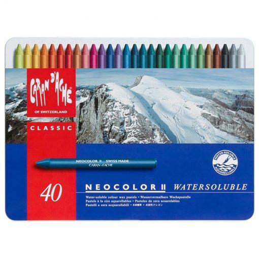 Caran d'Ache Neocolor II Wax Pastels Tin 40