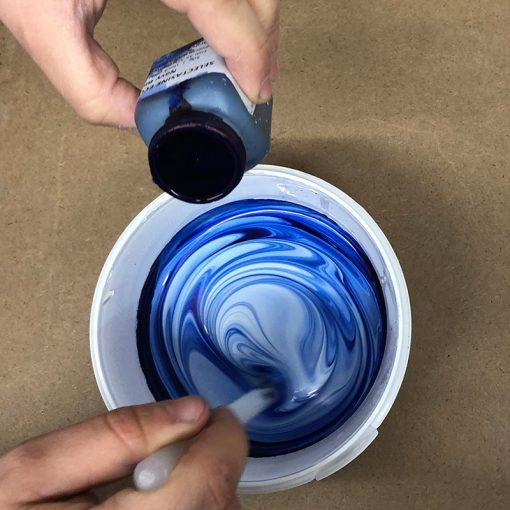 Selectasine binder mixed with Selectasine pigment