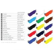 Speedball Fabric Screen Printing Ink colour chart