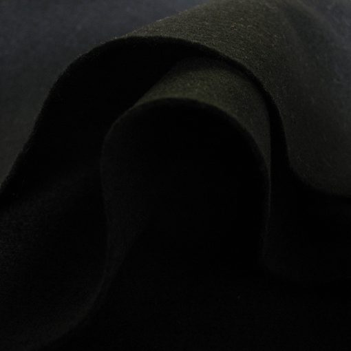 Black 100% Wool Felt Fabric