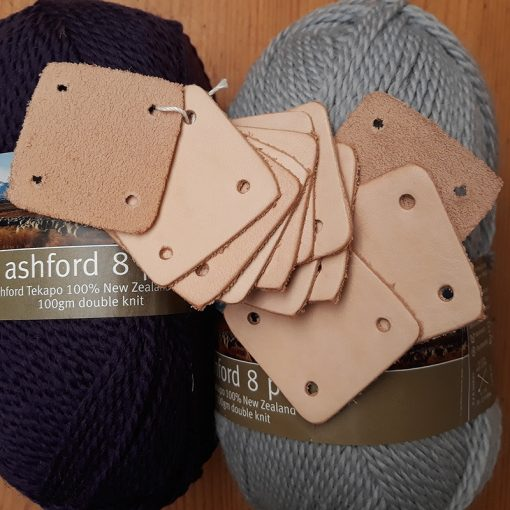 Leather tablet weaving cards