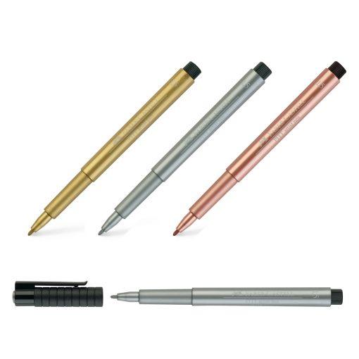 Faber Castell Pitt Artists Metallic Pens, 3 colours