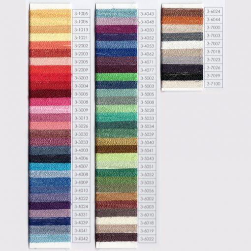 Venne Organic Cotton/Linen Yarn Nel 22/2 colour chart