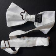 White silk bowtie