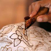 Using Tjanting for Batik